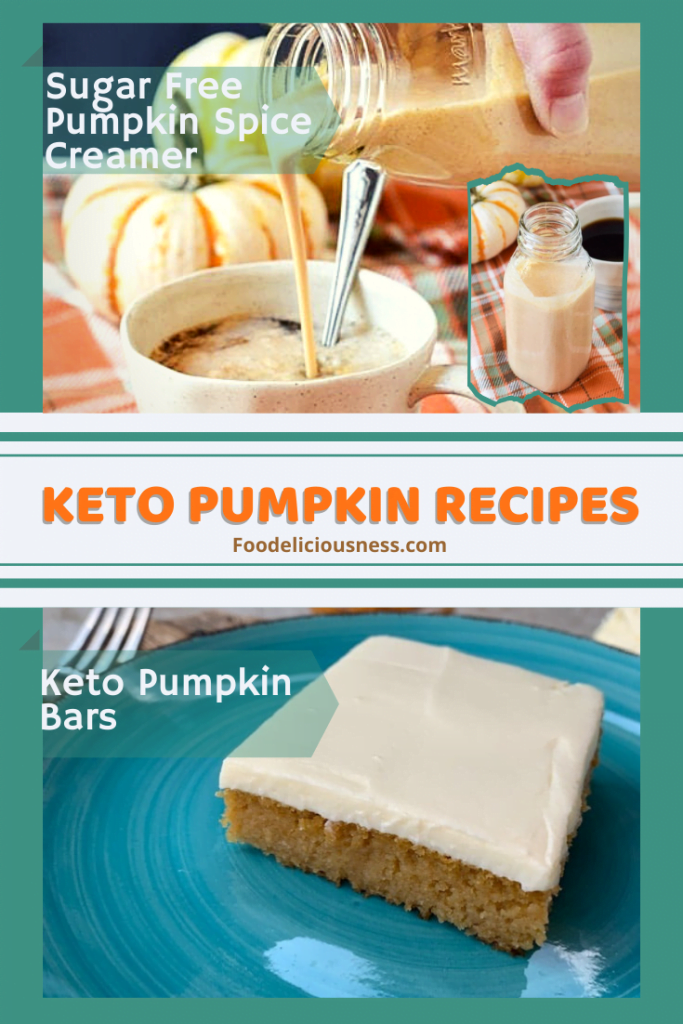 Sugar free Pumpkin Spice Creamer and Keto Pumpkin Bars