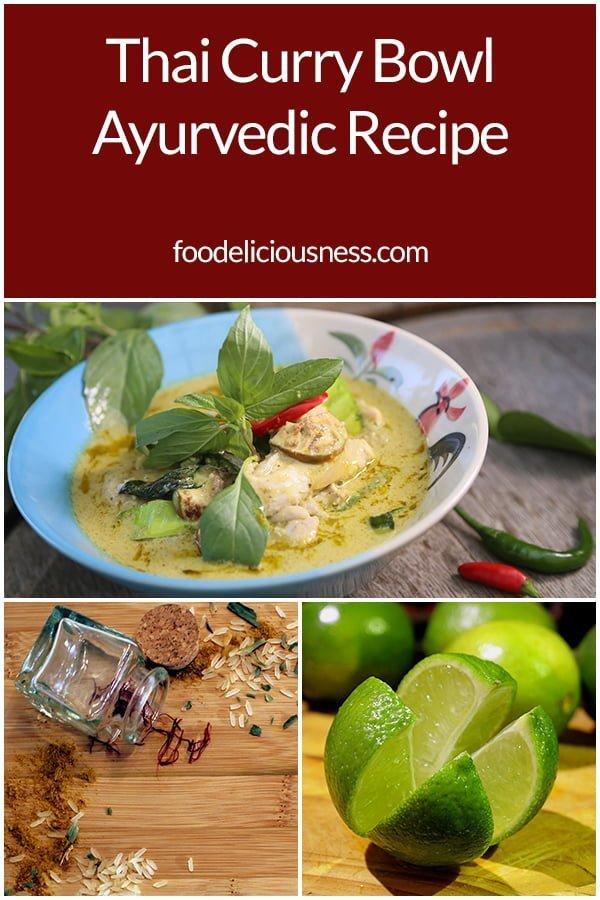 Thai Curry Bowl Ayurvedic Recipe Pin
