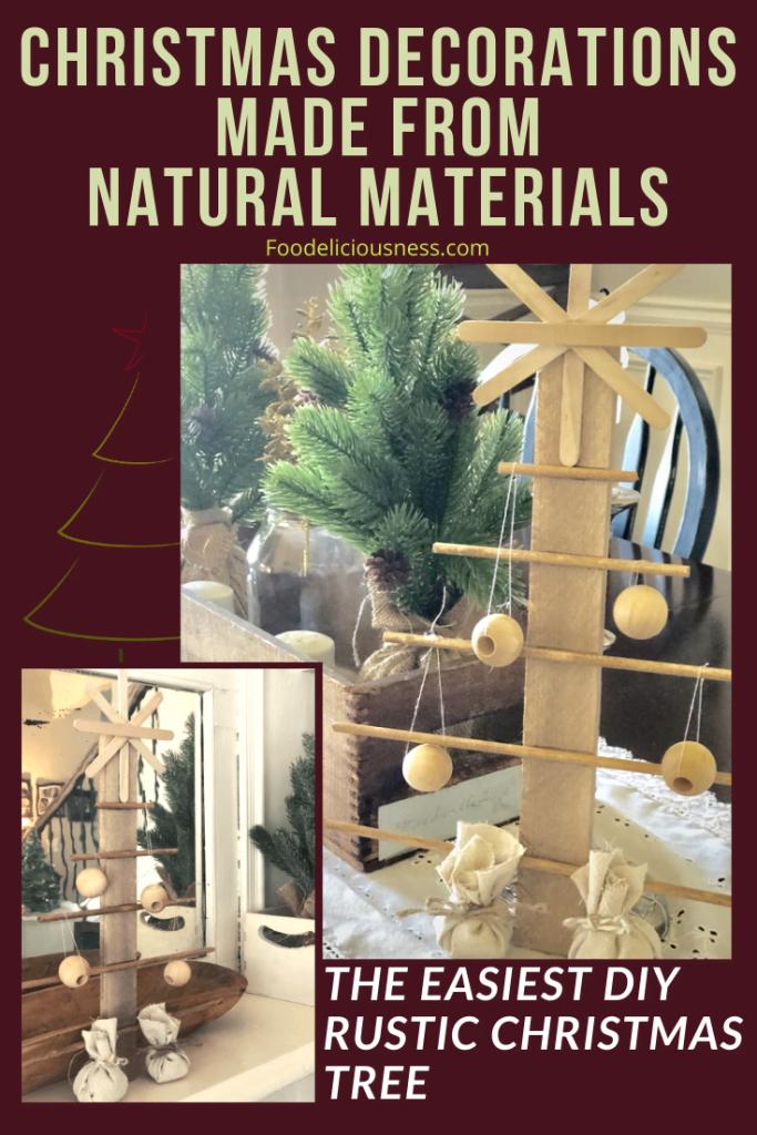 The easiest DIY Rustic Christmas Tree