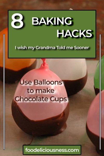 Use Balloons to make Chocolate Cups