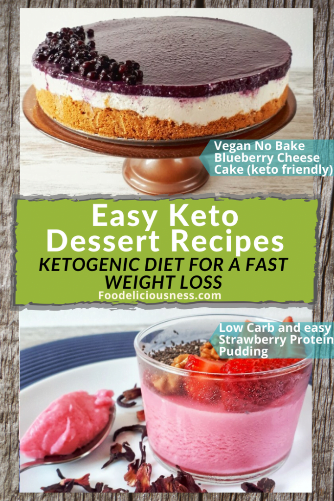 Vegan No Bake Blueberry Cheesecake Keto Friendly and Low Carb Easy Strawberry Protein Pudding 1