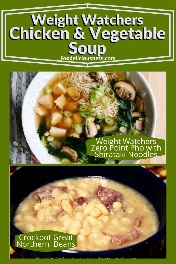 Weight Watchers 1 Point Pho with Shiratake noodles and Crockpot Great northern beans
