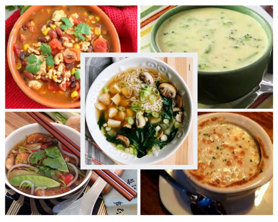 Weight Watchers chicken and Vegetable Soups
