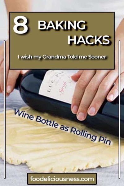 Wine Bottle as Rolling Pin