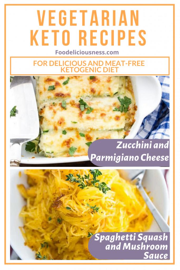 Zucchini and Parmigiano Cheese and Spaghetti Squash and Mushroom Sauce