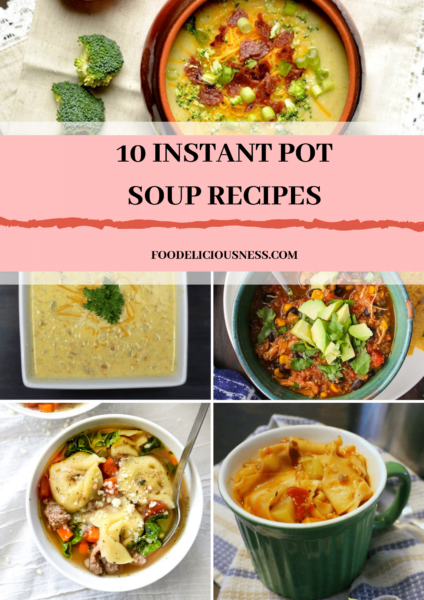 Soup is always a welcome meal for lunch or light dinner. Especially in these colder days when we enjoy hot and delicious meals more. It can be chicken, beef or vegetarian soup, but with good vegetables and spices, yummy taste and a healthy meal are guaranteed. #instantpotsoupchicken #instantpotsouprecipeseasy #instantpotsouprecipeshealthy  @foodeliciousness