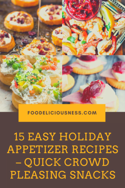 Today we are presenting you 15 fantastic crowd pleasing holiday appetizers. These easy holiday appetizers make a great choice for your Christmas, New Year's or Thanksgiving party. All the appetizers from our list are simple and easy to make ahead. If you are looking for some healthy appetizing snacks, this is a great list of recipes too! #Crowdpleasingholidayappetizers #EasyholidayappetizersforyourChristmasParty #Simpleholidaymakeaheadappetizers #HealthyHolidayAppetizersforyourChristmasPar...