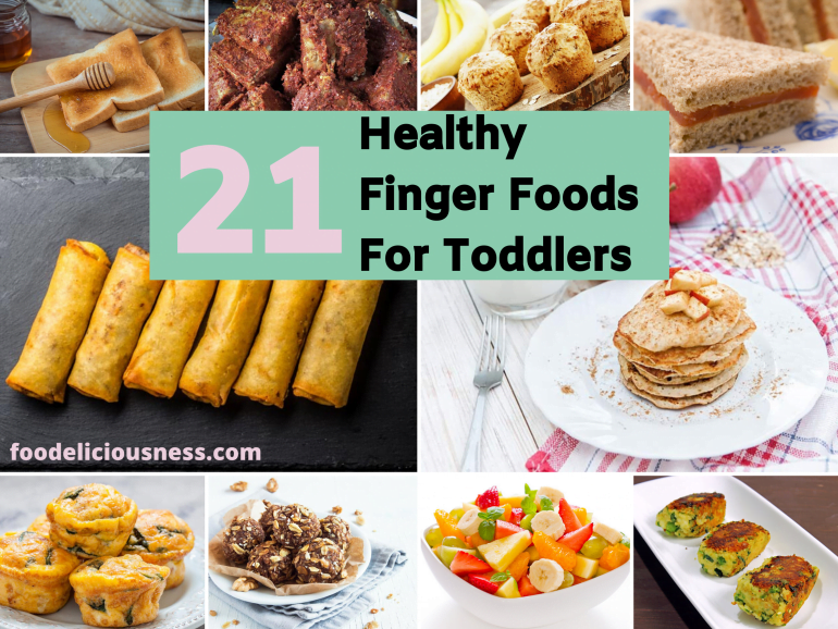 21 healthy finger foods for toddlers cover