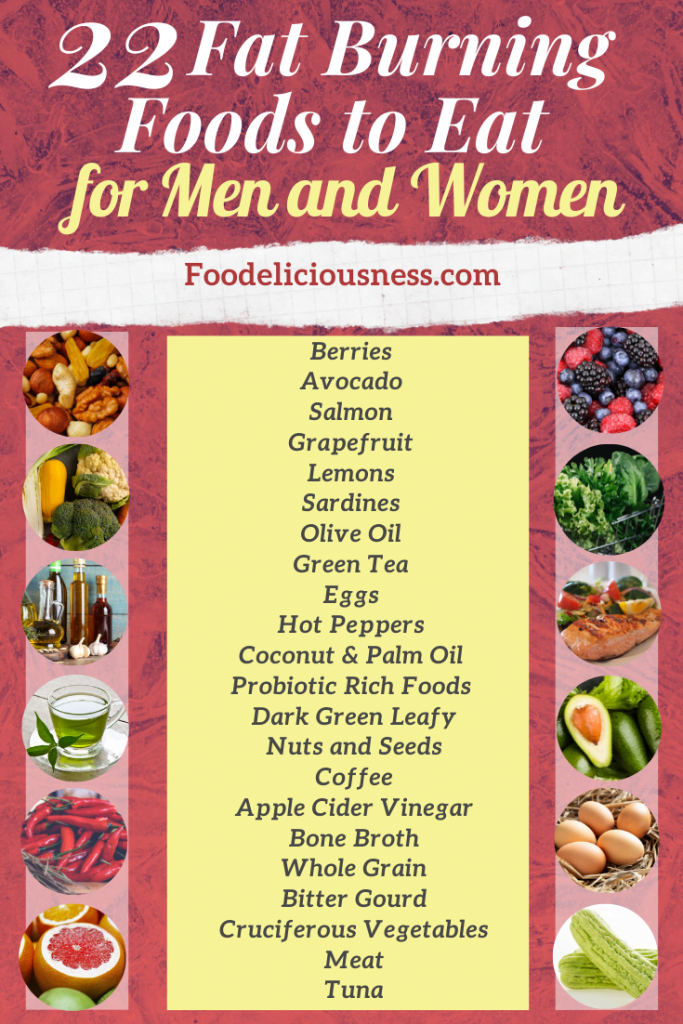 22 Fat Burning Foods to Eat for Men and Women
