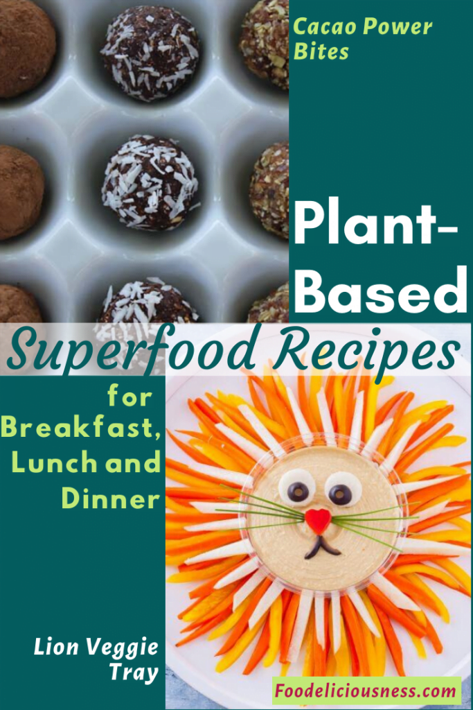 Plant-based Superfood recipe Cacao Power Bites Lion Veggie Tray