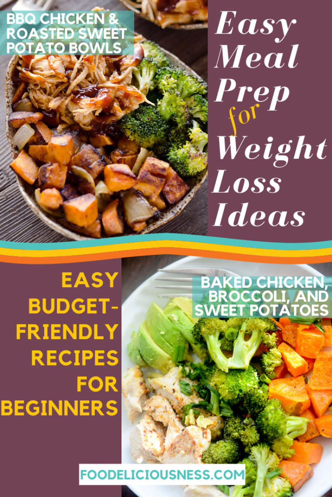 EASY MEAL PREP FOR WEIGHT LOSS IDEAS BBQ Chicken Roasted Sweet Po