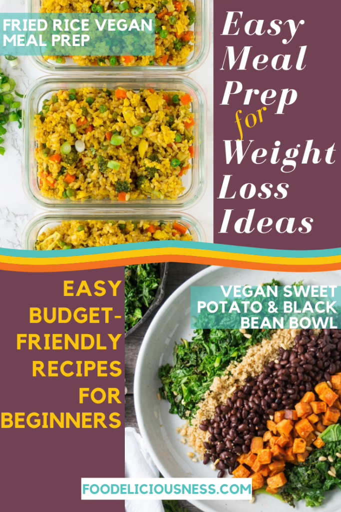 EASY MEAL PREP FOR WEIGHT LOSS IDEAS Fried Rice Vegan Meal Prep and Veg