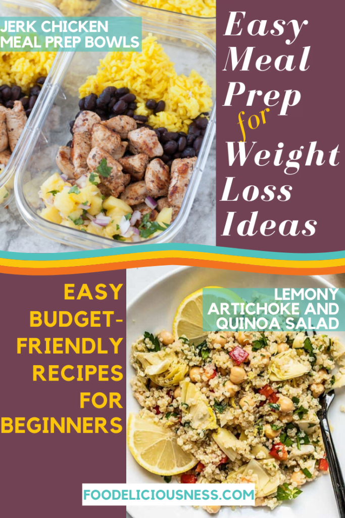 EASY MEAL PREP FOR WEIGHT LOSS IDEAS Jerk Chicken Meal Prep Bowls and L
