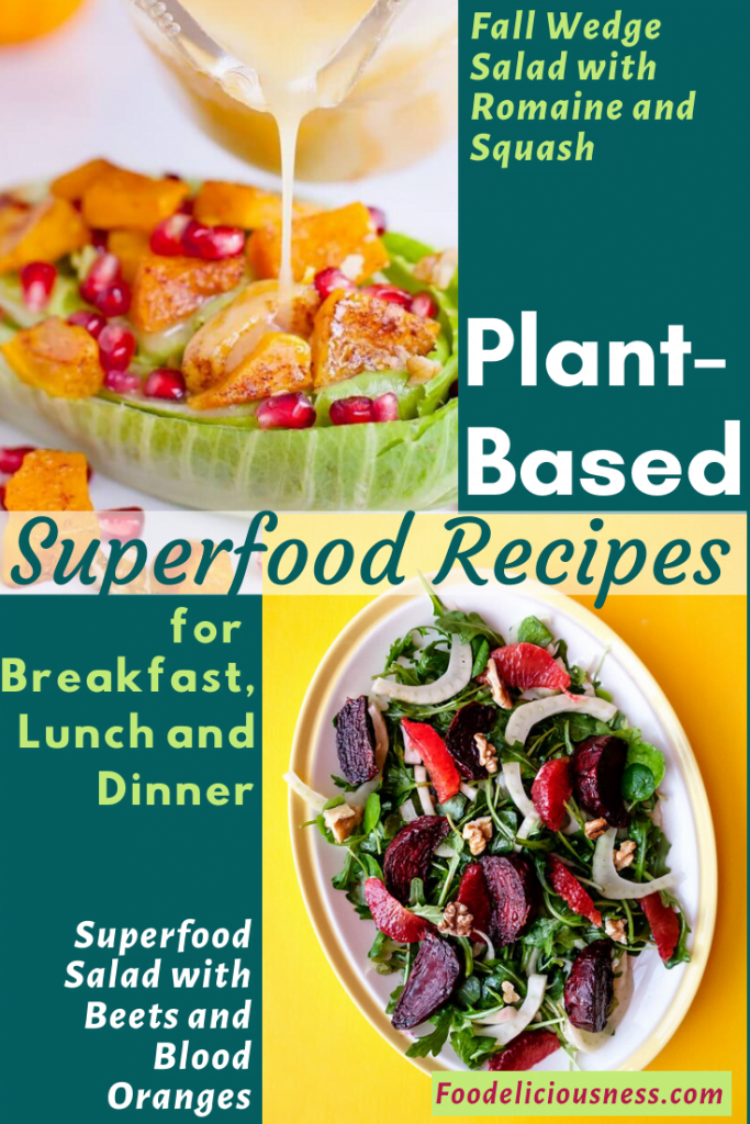 Fall Wedge Salad with Romaine and Squash and Superfood Salad with Beets and Blood Oranges