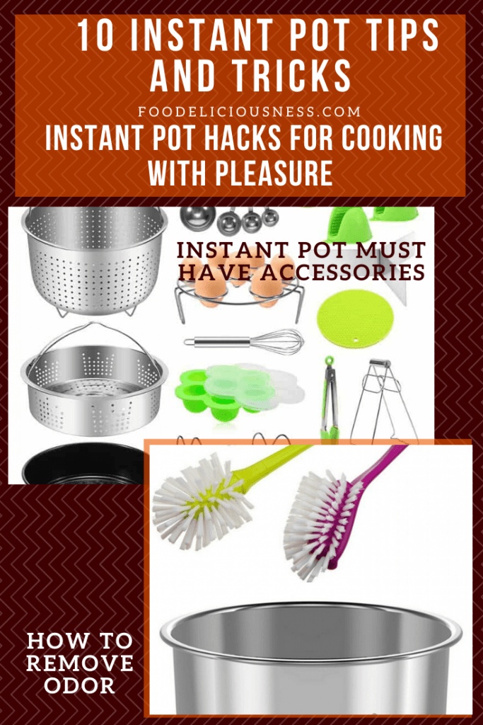 Instant pot must have accessories and How to remove odors