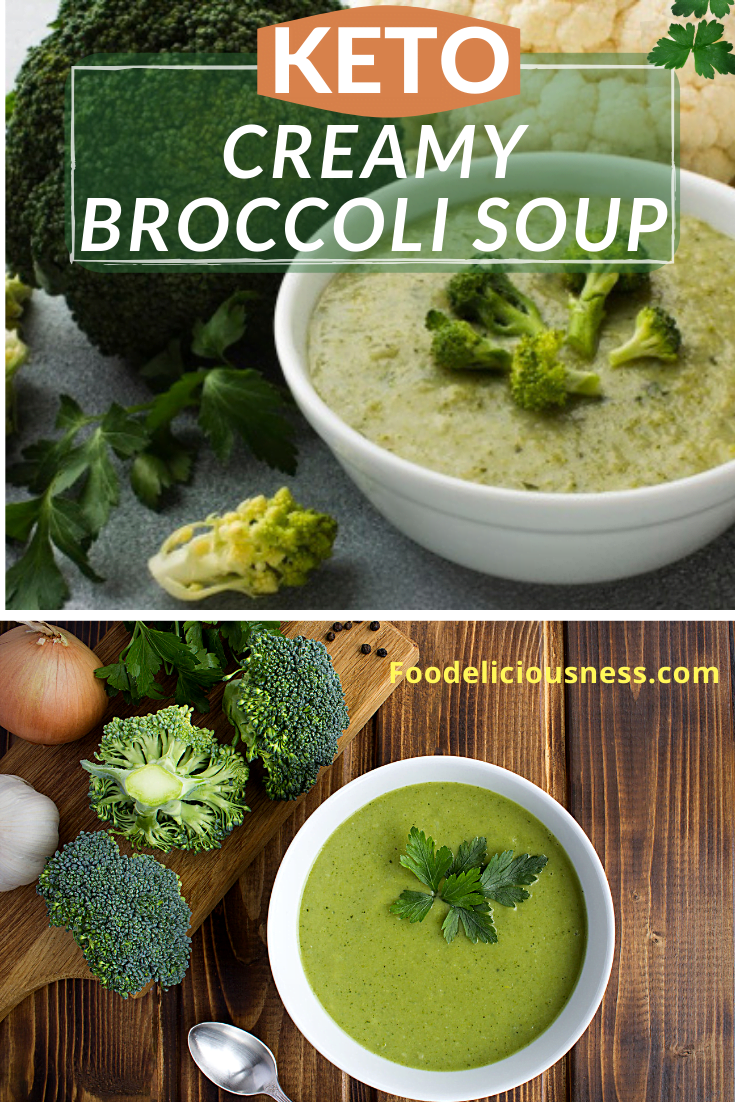 Keto Creamy Broccoli Soup contains the keto favorite ingredients, and furthermore, the recipe is also Paleo and Whole30 that makes the soup super healthy and tasty as well. Indeed, no wonder this is one of the favorites of dieters, and even nondieters as well. #Ketocreamybroccolisoup #Ketobroccolisoup #Paleobroccolisoup @Foodeliciousness