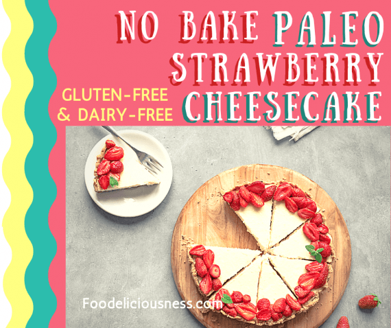 No bake paleo strawberry cheesecake 3