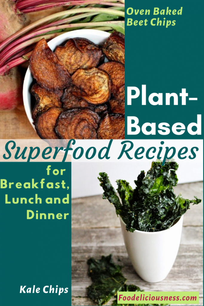 Plant-based Superfood Recipes Oven Baked Beet Chips Kale Chips