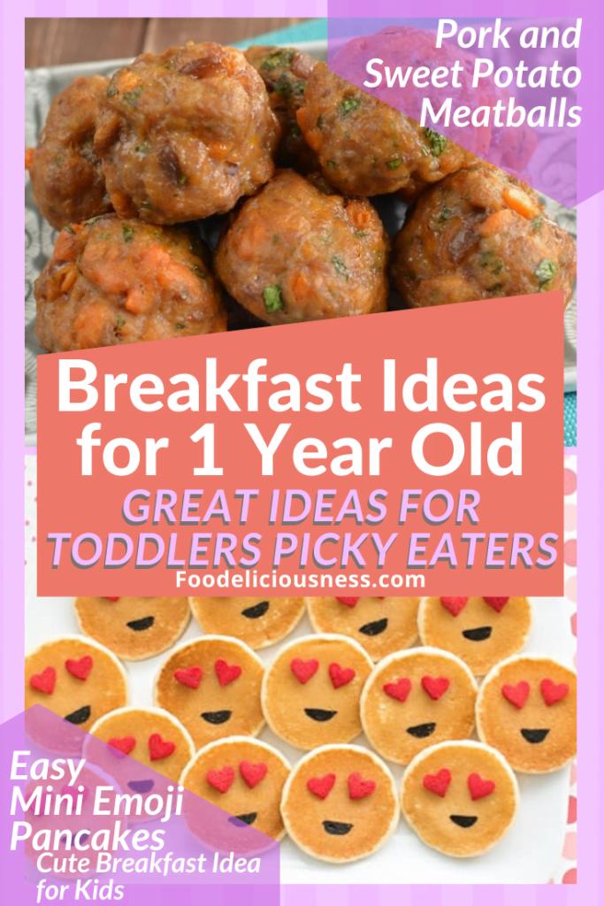 Pork and Sweet Potato Meatballs and Easy Mini Emoji Pancakes