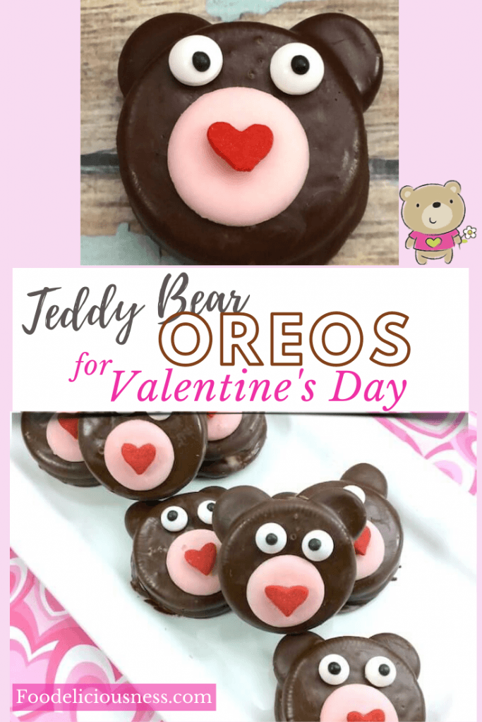 Teddy bear oreos for Valentines day 1