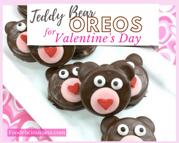 Teddy bear oreos for Valentines day