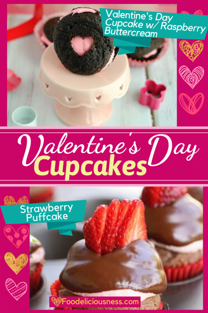 Valentines Day Cupcakes Valentines day cupcake w raspberry butter cream Strawberry puffcake