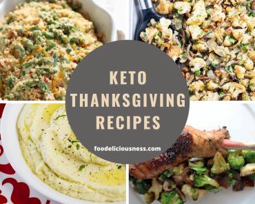 keto thanksgiving recipes cover
