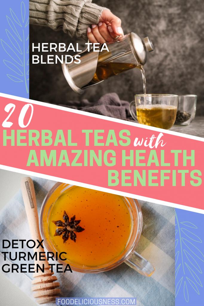 Herbal Tea Blends and DETOX TURMERIC GREEN TEA
