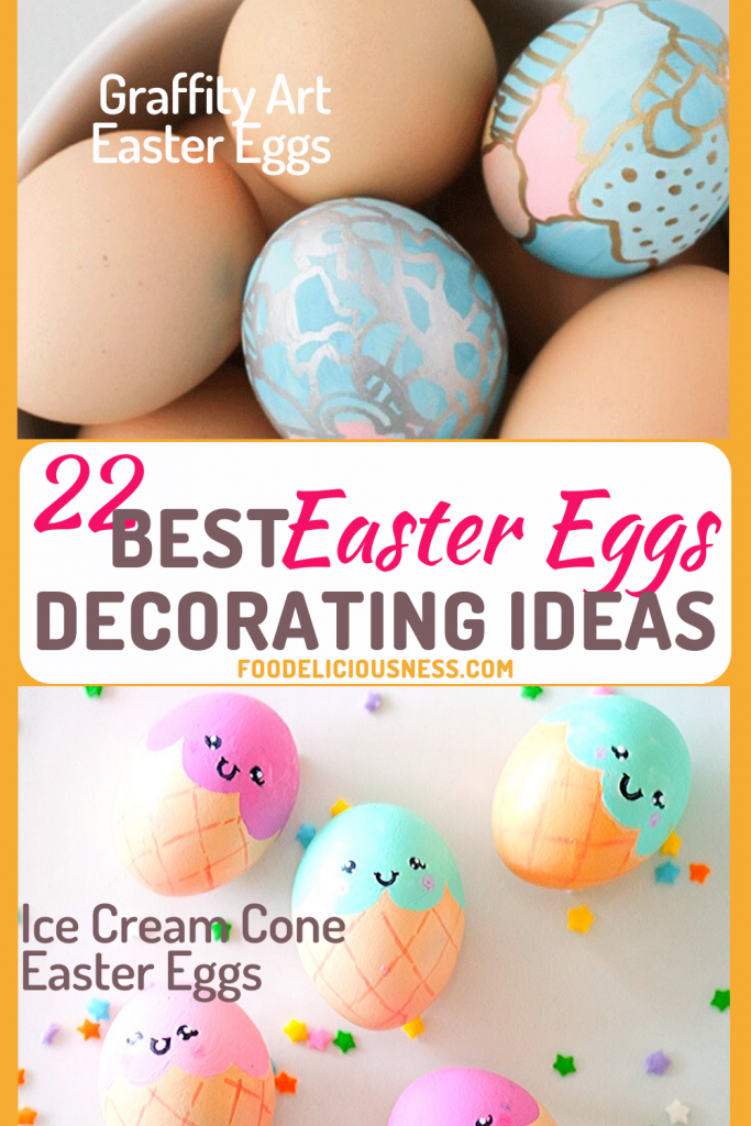 Graffity Art Easter eggs and Ice Cream Cone Easter Eggs