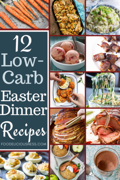 12 Low Carb Easter Dinner Recipes are indeed ready for you here if you are still undecided as to what menu you are going to prepare for celebrating Easter while at the same time, avoiding too much carbohydrates.Definitely, you and your family or guests will surely enjoy these healthy low carb Easter Dinner Recipes, and they are easy to prepare as well. Check them here and you\'ll know why. #lowcarbeasterdinnerrecipes, #easterdinnerrecipes, #lowcarbdinnerrecipes @foodeliciousness