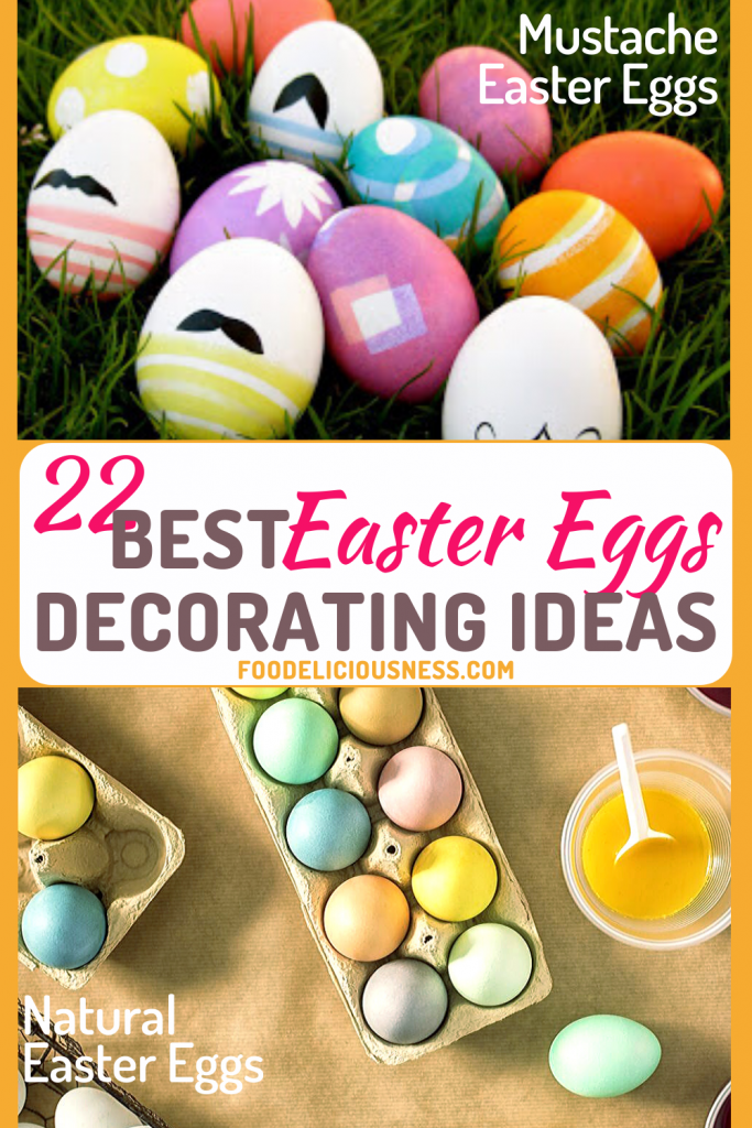 Best Easter Eggs Decorating Ideas Mustache Easter eggs and Natural Easter eggs