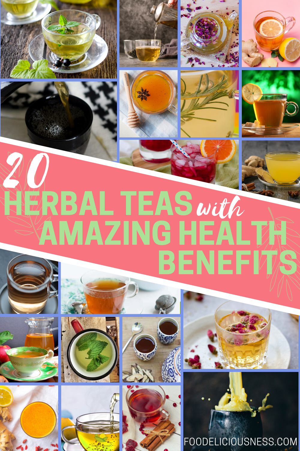 Herbal Teas with Amazing Health Benefits are recently being sought after by people not only because they are very relaxing, but also for health benefits of course. And because there are so many plants, hence, it is not surprising that there are so many herbal teas as well along with their amazing health benefits. With every different combination, herbal teas have their own special health benefits as well. #herbalteas #herbalteashealthbenefits @Foodeliciousness