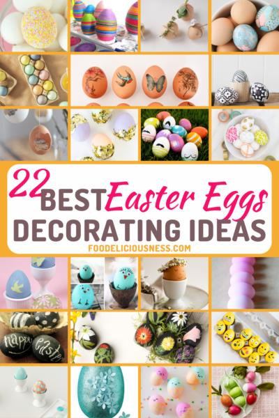 Easter eggs decorating can be a lot of fun especially that everyone is giving their ideas on how they can decorate the eggs and make them pretty and unique. In fact, there are over a hundred decorations that you can do for your Easter Eggs, from classic to modern ones.Hence, we collected 22 Best Easter Eggs Decorating Ideas for you to try on. Surely, you will enjoy and discover your own creativeness as well. #BestEastereggsdecoratingideas #Eastereggdecorations #DIYEastereggs @Foodelici...