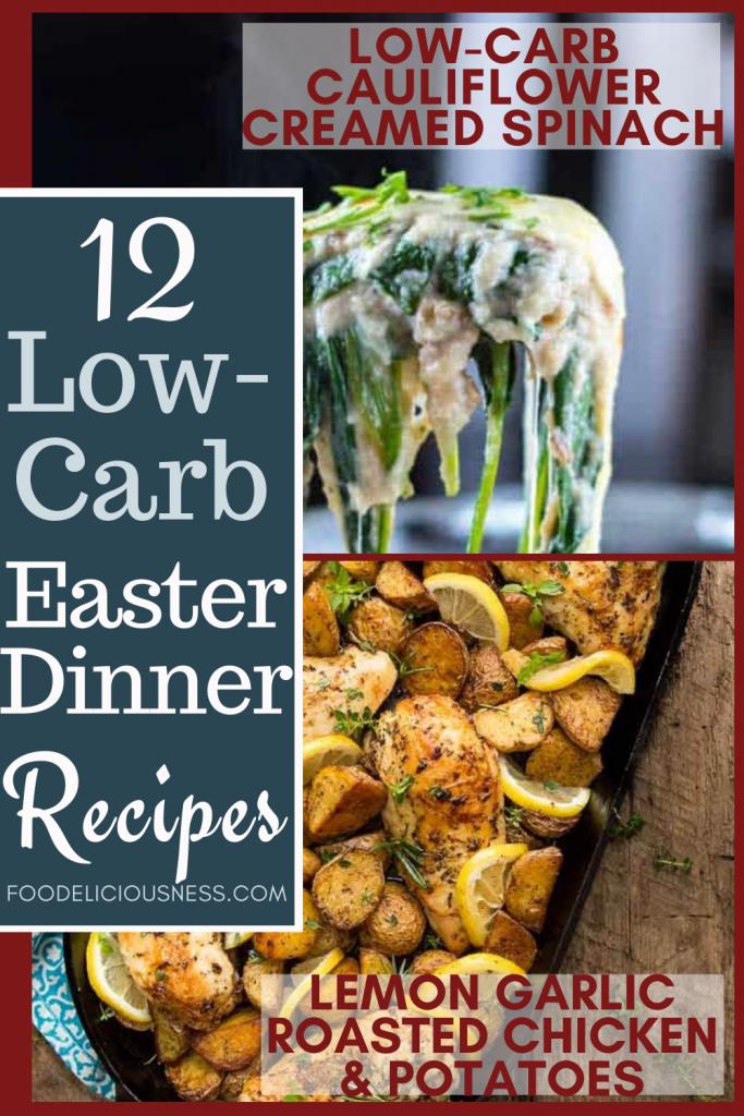 cauliflower creamed spinach and lemon garlic roasted chicken potatoes