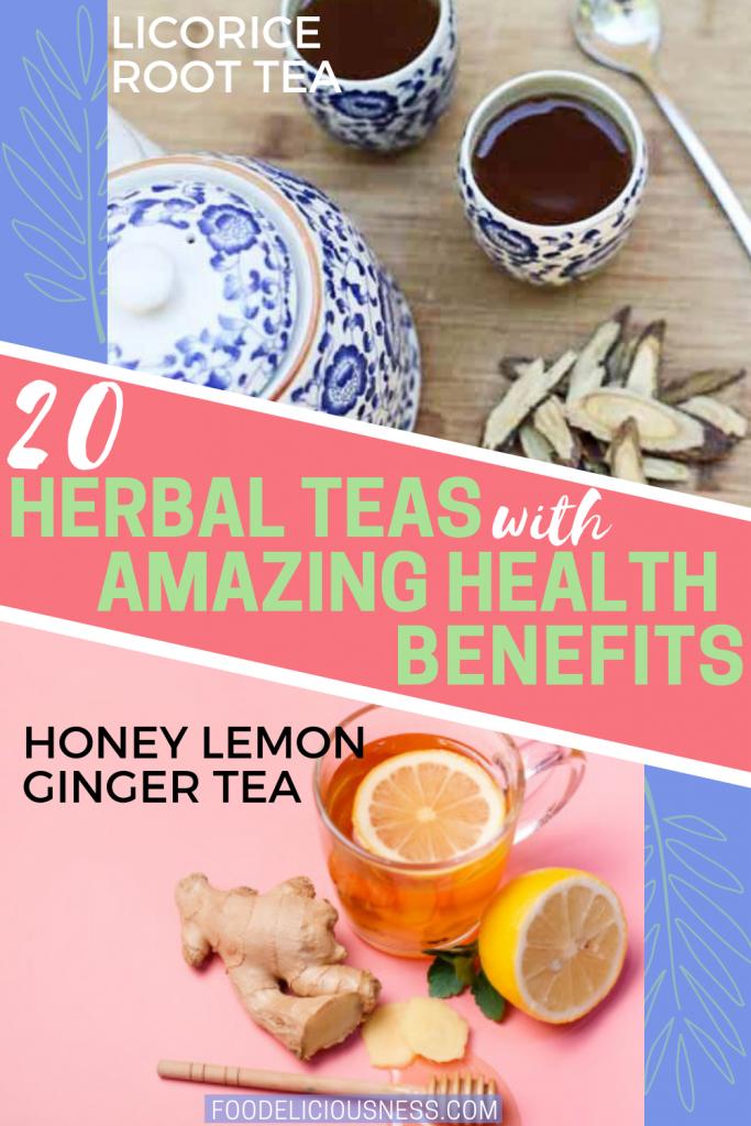 licorice root tea and Honey Ginger Tea