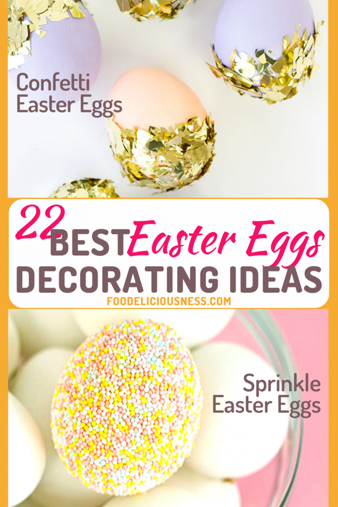 Confetti Easter Eggs and Sprinkle Easter Eggs