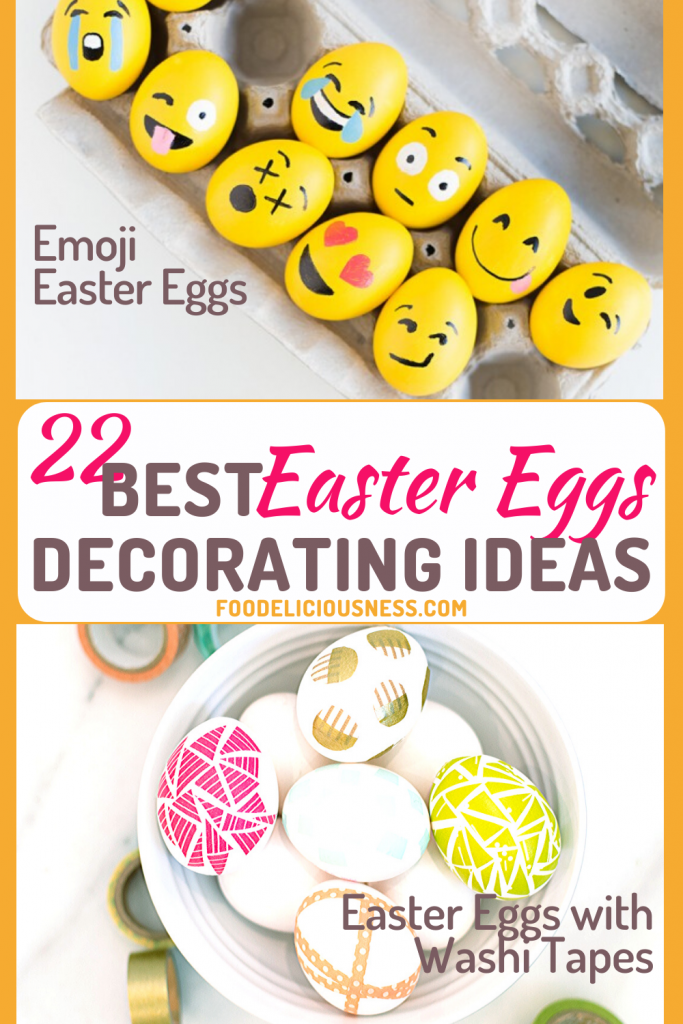 Emoji Easter Eggs and Easter Eggs with Washi Tapes