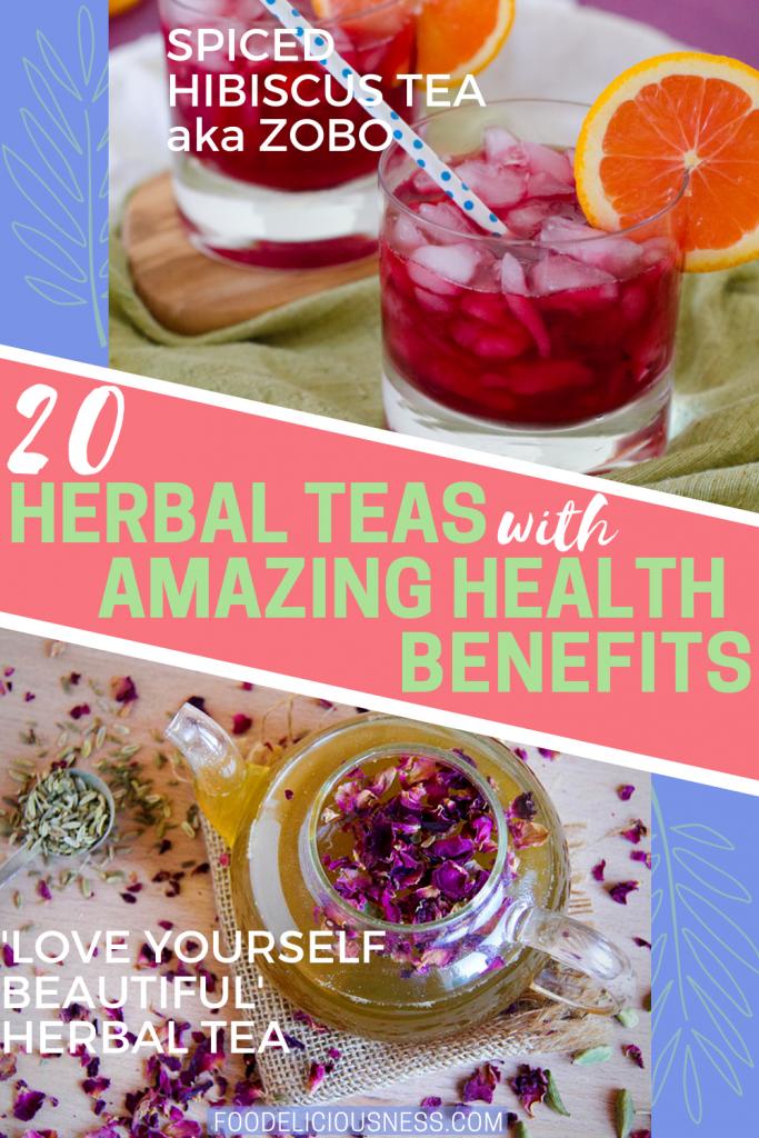 Spiced Hibiscus tea and love yourself beautiful herbal tea