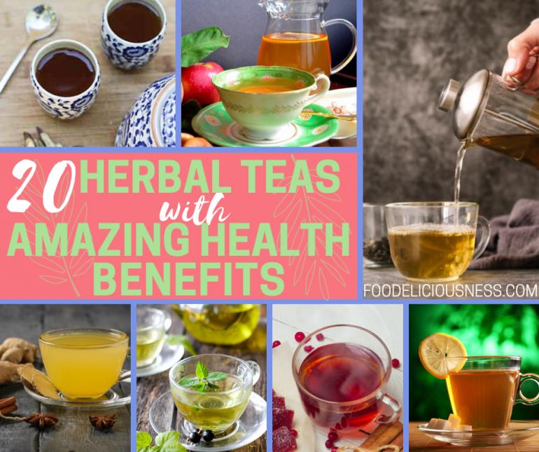 HERBAL TEAS WITH AMAZING HEALTH BENEFITS