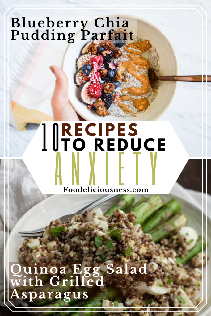 Blueberry Chia Pudding Parfait and Quinoa Egg Salad with Grilled Asparagus