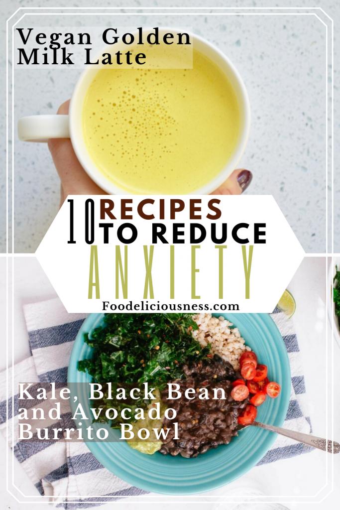 Vegan Golden Milk Latte and Kale Black Bean and Avocado Burrito Bowl
