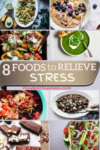 Foods to Relieve Stress or Foods that Reduce Stress are important in one\'s diet. Stress is an everyday experience either you are at home or at work. Comfort foods are often we seek after during stressful times. It can make you feel better at the moment, but in reality, it can make more stress in the body. Check these 8 Foods to Relieve Stress that we\'d like to share with you and the ingredients are highly approved by most Nutritionists. #FoodstorelieveStress #Stressrelievingfoods @Foodeli...