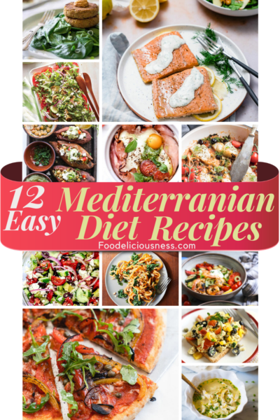 If you are new to Mediterranean Diet, and looking for easy and simple recipes, here are 10 Easy Mediterranean Diet Recipes that are simple, yet delicious and truly easy to prepare. Essentially, a Mediterranean Diet is based on the way that the people in the Mediterranean region traditionally ate. It focuses on whole grains, good fats, vegetables, fruits, fish, seafood, poultry, dairy, and very low consumption of non-fish meat. #Mediterraneandietrecipes #Easymediterraneanrecipes @Fodelicio...