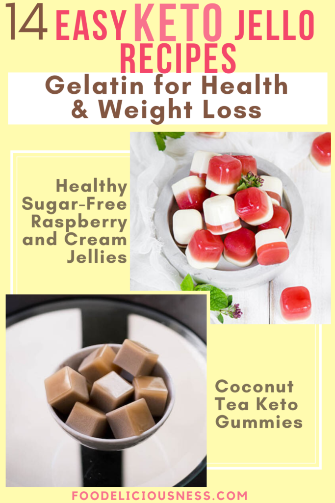 Easy Keto Jello Recipes Healthy Sugar Free Raspberry and Cream Jellies and Coconut Tea Keto Gummies