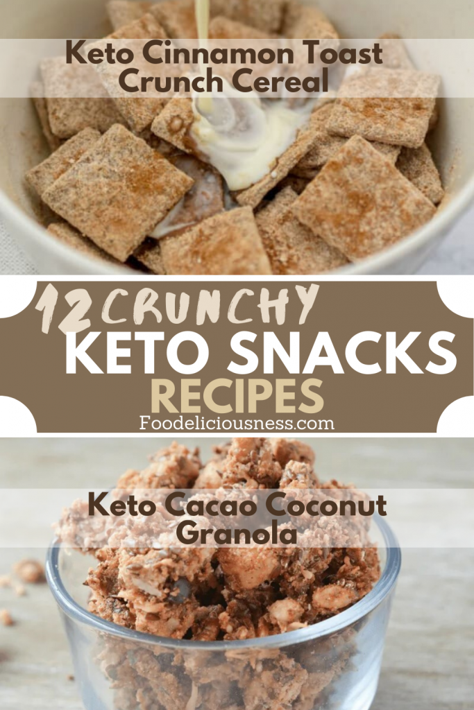 Keto Cinnamon Toast Crunch Cereal and Keto Cacao Coconut Granola