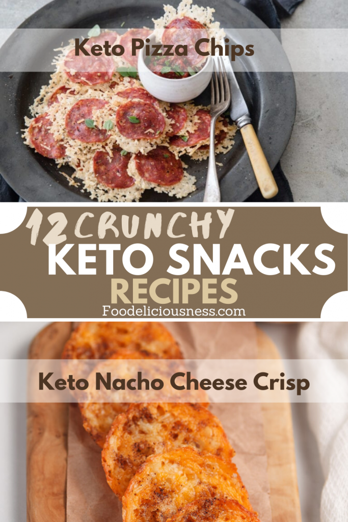 Crunchy keto snacks recipes Keto Pizza Chips and Keto Nacho Cheese Crisp