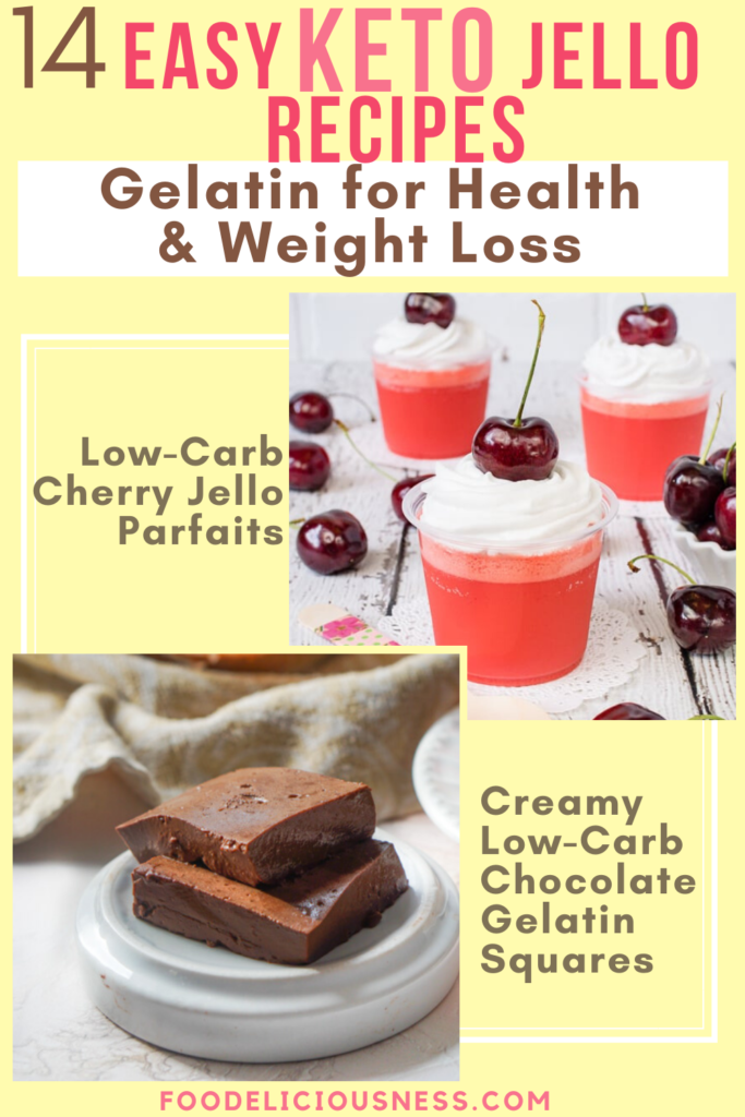 Easy Keto Jello Recipes Low carb cherry jello parfaits and Creamy Low Carb Chocolate Gelatin Squares