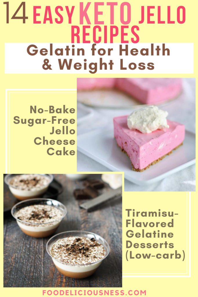 No Bake Sugar Free Jello Cheese Cake and Tiramisu Flavored Gelatin Desserts