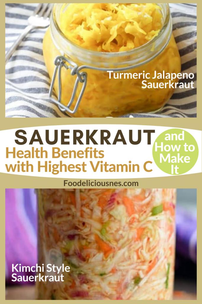 Turmeric Jalapeno and Kimchi Style Sauerkraut