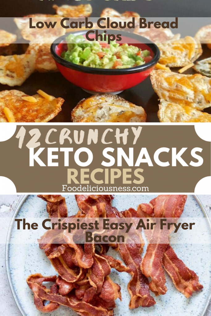 Low Carb Cloud Bread Chips and The Crispiest Easy Air Fryer Bacon